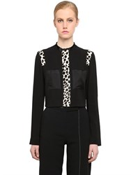Edun Cropped Viscose Jacket W Ponyskin