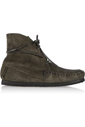 Etoile Isabel Marant Flavie Suede Moccassin Boots Gray