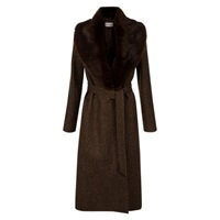 Hobbs Ebony Trench Coat Brown