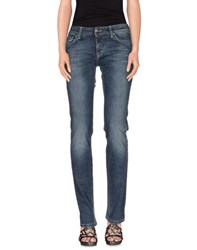 Shaft Denim Denim Trousers Women Blue