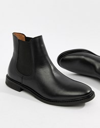 Selected Femme Leather Chelsea Boots Black