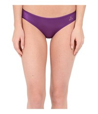 Betsey Johnson Slinky Knit Ruched Back Bikini 721802 Purple Rain Women's Underwear
