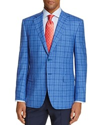 Canali Windowpane Classic Fit Travel Sport Coat 100 Bloomingdale's Exclusive Blue