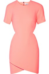 Elizabeth And James Skylyn Cutout Neon Stretch Cady Mini Dress Pink