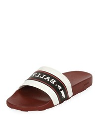 Bally Ani 8 Rubber Pool Slide Sandals Red White