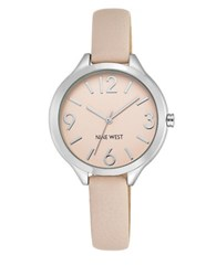 Nine West Round Dial Watch With Strap Pink