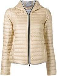 Duvetica Hooded Puffer Jacket Nude Neutrals