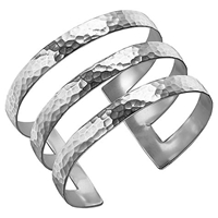 Dower And Hall Sterling Silver Triple Cuff Silver 40Mm