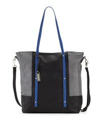 Urban Originals Afterglow Colorblock Tote Bag Black Blue Gray