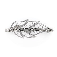 Colette Malouf Diamond Feather Barrette