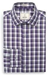 Todd Snyder Trim Fit Check Dress Shirt Purple
