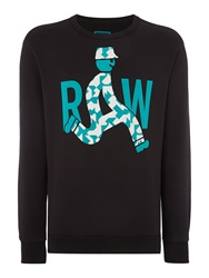 G Star Marsh Graphic Crew Neck Jumper Black