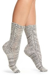 Lemon Women's Feather Twist Crew Socks