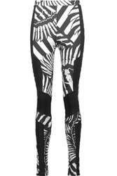Just Cavalli Printed Stretch Jersey Leggings Black