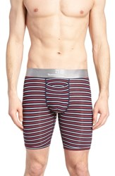 Tommy John Second Skin Americana Stripe Boxer Briefs Red White Dress Blues