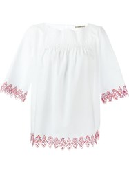 Etro Embroidered Trim Blouse White