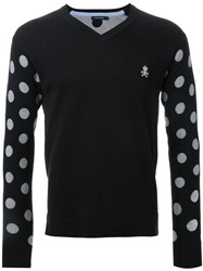 Guild Prime Polka Dot Intarsia Sweater Black