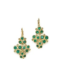 Temple St. Clair 18K Yellow Gold Emerald Trio Cluster Earrings Green Gold