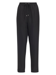 Whistles Silk Joggers Black