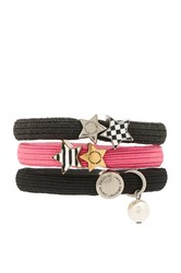 Marc Jacobs Stripe And Checkerboard Cluster Ponys Pink