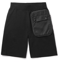 Givenchy Shell Trimmed Cotton Jersey Shorts Black