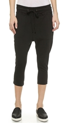 James Perse Cropped Sweatpants Black