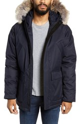 Nobis Heritage Down Parka With Genuine Coyote Fur Trim Navy