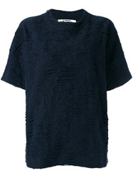 Chalayan Simple Knitted Top Women Cotton Polyester M Blue