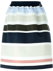 Twin Set Striped A Line Skirt Multicolour