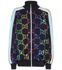 Gucci Gg Sequined Track Jacket Multicoloured
