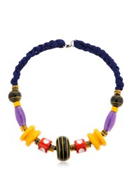 Missoni Graphic Modernist Resin Long Necklace Multicolor