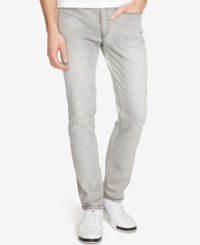 Kenneth Cole Reaction Men's Straight Fit Stretch Ultra Light Gray Jeans Grey