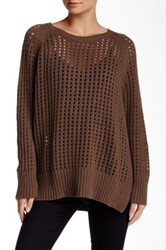 Planet Hip Fisherman Sweater Brown