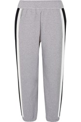 Lndr Horizon Striped Stretch Cotton Jersey Track Pants Light Gray