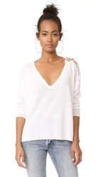 Feel The Piece Parmer Sweater Optic White