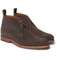 Grenson Marcus Suede Chukka Boots Gray