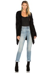 Arc Daria Fuzzy Cardigan Black