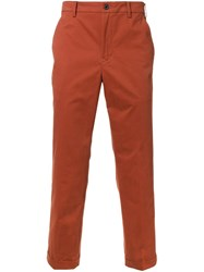 Loveless Stright Leg Pants Yellow And Orange