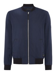 Religion Men's Zip Up Bomber Jacket Navy