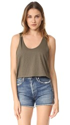 Twenty Tees Cropped Tank Army