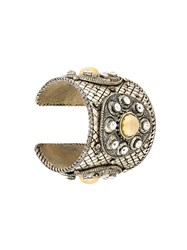 Christian Dior Vintage Engraved Cuff Metallic
