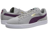 Puma The Suede Classic Drizzle Italian Plum White Men's Shoes Gray