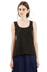 Topshop Tie Back High Low Tank Black