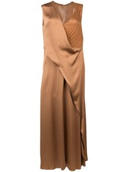 Sies Marjan Draped Long Dress Brown