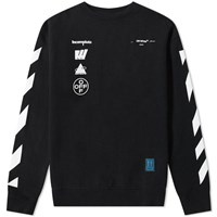 Off White Diagonals Mariana Crew Sweat Black