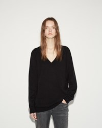 Alexander Wang Deep V Neck Sweater Black