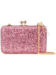 Sophie Hulme Glittered Sidney Clutch Women Suede Polyester One Size Pink Purple