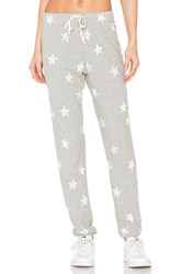 Splendid Ashbury Star Print Sweatpant Gray