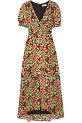 Paul And Joe Blondie Floral Print Crepe Maxi Dress Yellow