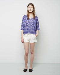 Etoile Isabel Marant Makya Embroidered Jean Shorts White